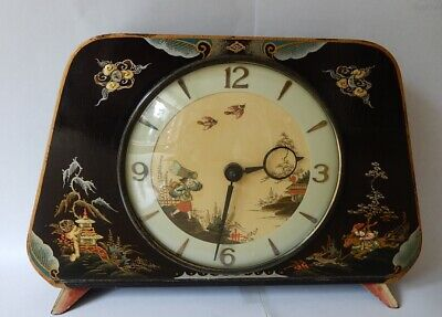 """Smiths """"Oriental"""" 8 day Mantel Clock Fully Working 2979"""