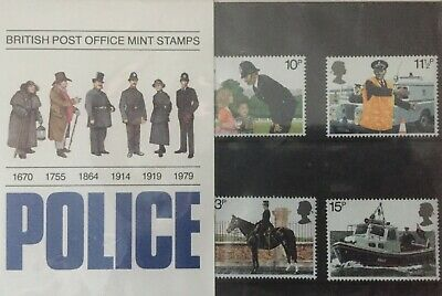 3 Sets Of Mint Stamps - British Motor Cars - Police - Transport & Communications