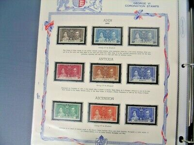 BRITISH COLONIES, 1937 Coronation, MINT Stamps & Covers mounted on White Ace