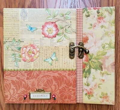 "K & Company Memory Scrapbook Album Flowers Floral Butterfly 12.5x14"" In"