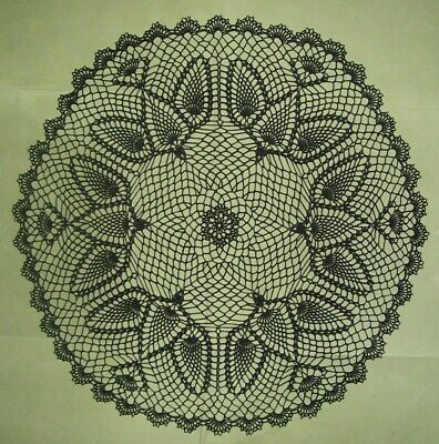 New Hand Crocheted Halloween Doily 'A murder (flock) of Crows' 25 in.