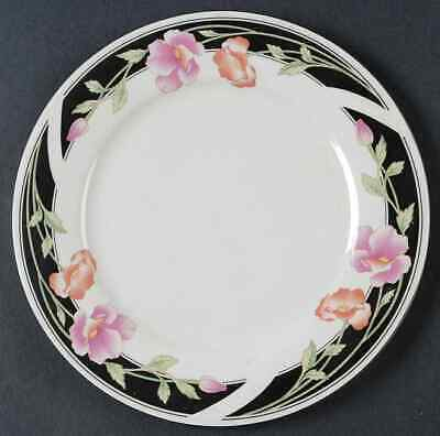 Gibson Designs BLACK SATIN Salad Plate 162007