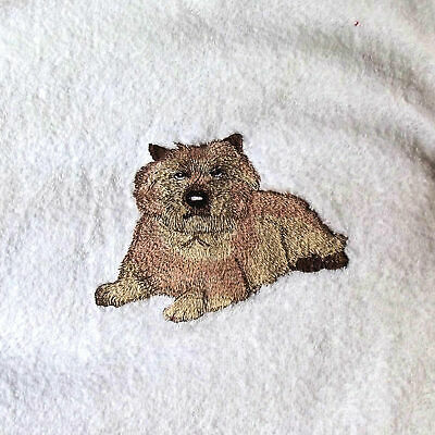 Cairn Terrier Dog Embroidered Bath Towel, New Home Gift, Embroidered Towel