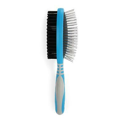 Ancol Ergo Double Sided Brush Bristle & Pin Removes Tangles Smooths Coat for Dog