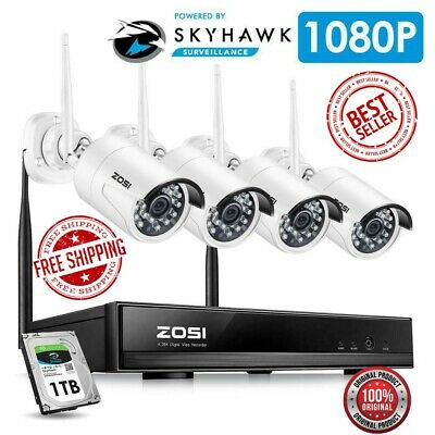 4CH 1080P HDMI Wifi NVR 2.0MP Security Camera System IR Outdoor Waterproof