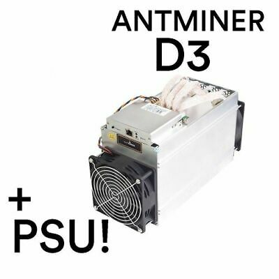 Bitmain Antminer D3 19GH/s X11 w/Power Supply APW3++ Trusted USA Seller -On HAND