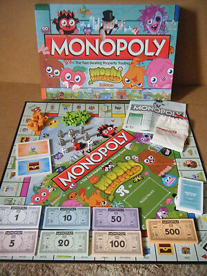 """Monopoly """"MOSHI MONSTERS EDITION"""" By Hasbro Gaming 2012. Complete."""