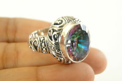 8 3//4 Purple Amethyst Solitaire Ornate 925 Sterling Silver Ring Size 6 7 8