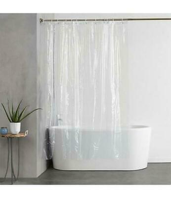 """Shower Curtain Liner Magnetic Clear Standard Size 70"""" X 72"""" Waterproof Vinyl"""