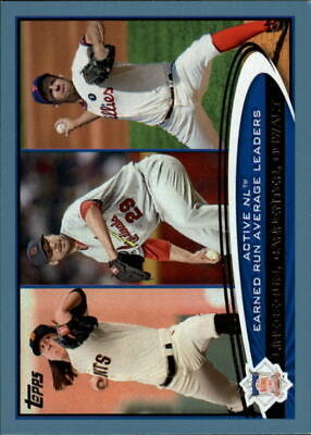 2012 Topps Wal Mart Blue Border #92 Tim Lincecum/Chris Carpenter/Roy Oswalt LDR