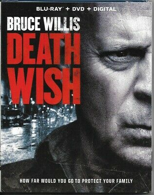 Bruce Willis + ~ Death Wish ~ Blu-Ray + Dvd + Digital Brand New