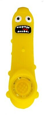 Collectible Funny Yellow Pickle Rick Silicone Hand Pipe