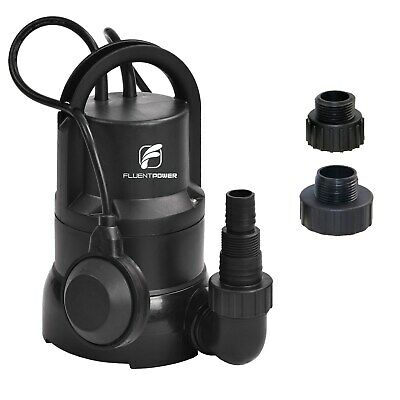 FLUENTPOWER 1/3 HP Electric Submersible Small Utility Drain Water Pump