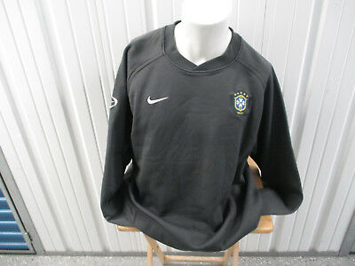 27a5d9584f9 Vintage Nike Brazil National Football Team 2Xl Practice Sewn Gray Ls Jersey
