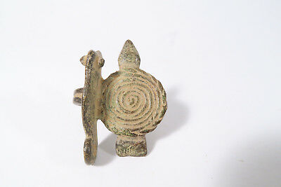Alter Ring Senufo Schildkröte Chamäleon AF98 Old Senoufo ring bague Afrozip