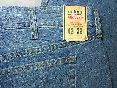 NEW URBAN PIPELINE 42 x 32 jeans blue REGULAR FIT 100% COTTON men's mens NWT .