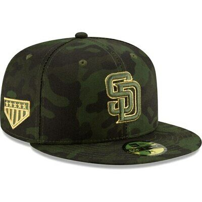 arrives dab0f 33cef San Diego Padres New Era 2019 MLB Armed Forces Day On-Field 59FIFTY Fitted  Hat