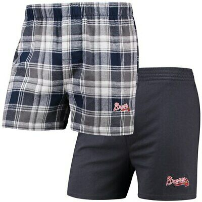 Concepts Sport Atlanta Braves Navy 2-Pack Boxer Shorts