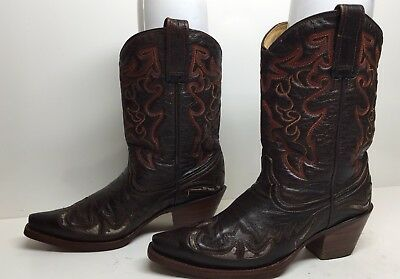 ce9471a6b4e CORRAL LD BROWN Jute Inlay Square Toe Size 7.5 Style A3227 - $147.00 ...