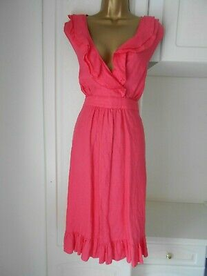 Smart Unlined 100% Linen Dress  By Monsoon In Vg Con Size Uk 22 Bust 48""