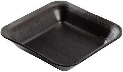 100 x Small Black Foam Polystyrene Meat Fish Veg Packing Tray