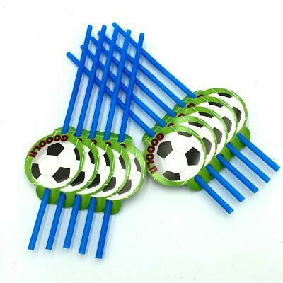 10 pcs football paille enfants anniversaire de noce fournitures de football L5O5