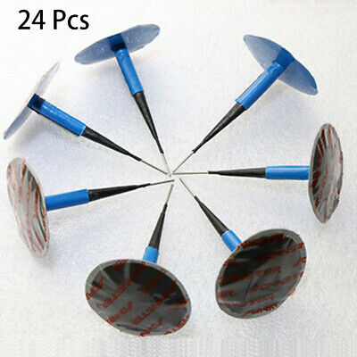 24PCS Car Vehicle Tubeless Tyre Puncture Repair Kit Wired Mushroom Plug Patch