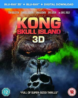 Kong Skull Island Blu-ray 3D + Blu-ray Brand New Sealed King Kong Movie