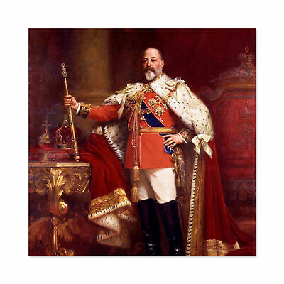 Fildes Portrait British King Edward VII Painting Large Wall Art Print Square