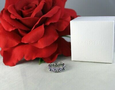 Sterling Silver Pandora ALE  Her Majesty Sparkling  Ring Size  5   CAT RESCUE