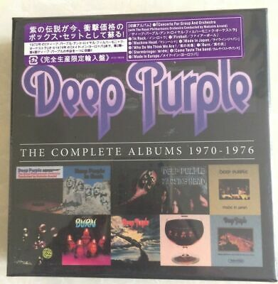 """Deep Purple """"The Complete Albums 1970-1976"""" 10 CD Box Set Collection"""