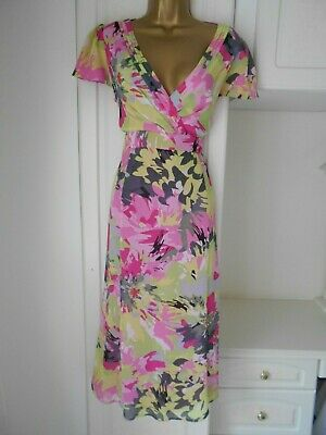 Smart Lined Chiffon Dress By Per Una In Vg Con Size Uk 16 L Bust 41""