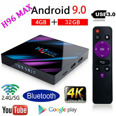UK H96 MAX RK3318 4GB+32GB Android 9.0 Quad Core TV Box 4K HD Media Player WIFI