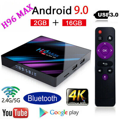 New H96 MAX RK3318 Wifi Android 9.0 2G+16G Quad Core Ultra 4K BT4.0 Smart TV Box