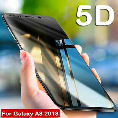 5D Curved Temper Glass Screen Protector Film For Samsung Galaxy A5/A8/A8 Plus