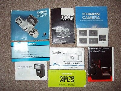 Selection Of Camera-Related Manuals - Canon, Ricoh, Praktica, Olympus, Kodak etc