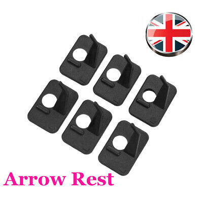 6pk Archery Arrow Rest Simple Plastic Self-adhesive for Recurve Bow Left Handed