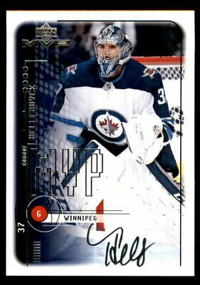 2018-19 Upper Deck MVP 20th Anniversary Tribute Silver Script Connor Hellebuyck