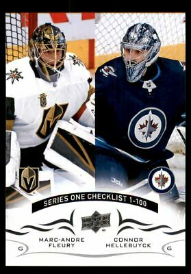 2018-19 Upper Deck #199 MaRookie Card-Andre Fleury Connor Hellebuyck CL