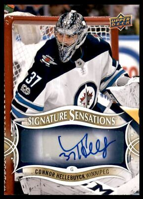 2018-19 Upper Deck Signature Sensations #SSCH Connor Hellebuyck C Auto