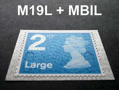 NEW JUNE 2019 2nd LARGE M19L + MBIL Machin SINGLE STAMP from Business Sheet