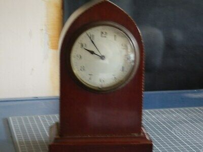 For Repair French Wood Case Mantel Clock No Key