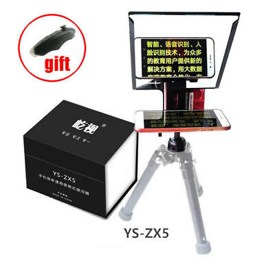 YS-ZX5 Smartphone Teleprompter For iPhone IOS Huawei Android Studio Video DSLR