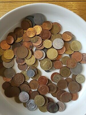 Mixed Foreign Coins from around The world  370g.