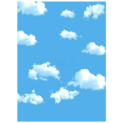 3x5ft Blue Sky White Cloud Photography Backdrop Screen Background Studio Prop GT