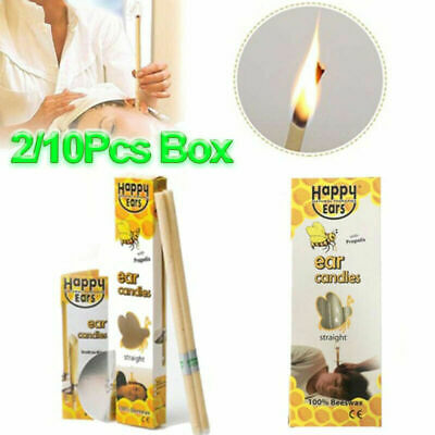 2/10 Pcs Hopi Ear Candling....... Natural Beeswax Excellent Quality Wax Candles