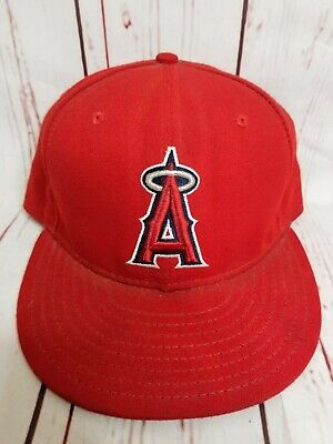 online store 33b92 c7eaf New Era Los Angeles Angels 59Fifty 5950 On Field Hat Cap Fitted 7 1 2