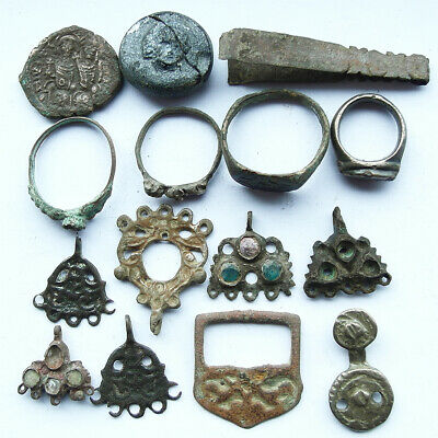 A collection of genuine ancient Byzantine artefacts.