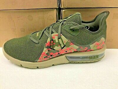 e4d8435ea2004 SZ 9.5 MENS NIKE AIR MAX Camo Pink and Olive SEQUENT 3 C SNEAKERS AJ0004 201