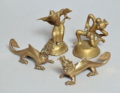 Good Group Antique Indian Brass Or Bronze Figures